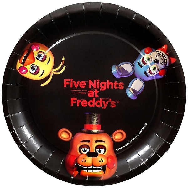 Five Nights At Freddyu0026#x27;s 9  Round Paper Plates ...  sc 1 st  Overstock.com & Five Nights At Freddyu0027s 9