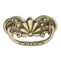Cabinet Drawer Pull Solid Brass Scalloped 4 1/4 W | Renovator's Supply
