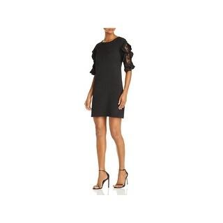 Aqua Womens Mini Dress Ruffle Lace