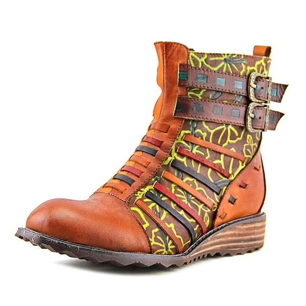 L'Artiste Dasha Women Round Toe Synthetic Brown Boot