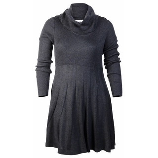 Calvin Klein Women's Pleated Skirt Sweater Dress - ps