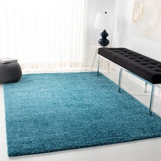 Link to Safavieh August Shag Margeret Solid Rug - 5' Square Similar Items in Patterned Rugs