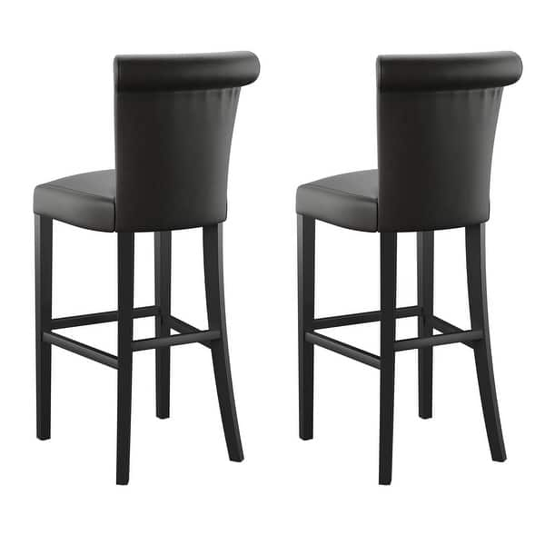 Copper Grove Fenua 30 Inch Faux Leather Curved Back Bar Stools Set Of 2 Overstock 20351578