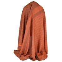 Gucci 359905 Burnt Orange XL Wool Silk GG Guccissima Scarf Shawl 53 x 53