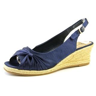Bella Vita Sangria Too WW Open Toe Canvas Wedge Heel