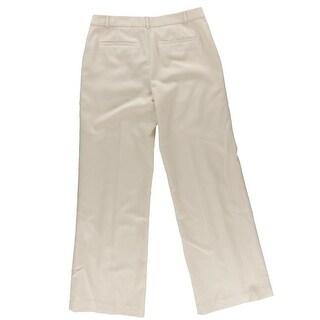 Lauren Ralph Lauren Womens Wool Faux Pockets Wide Leg Pants