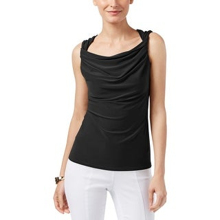Anne Klein Womens Pullover Top Twisted Sleeveless