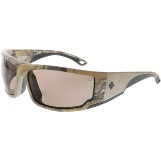 Spy Men's Polarized Tackle 673468158885 Brown Wrap Sunglasses
