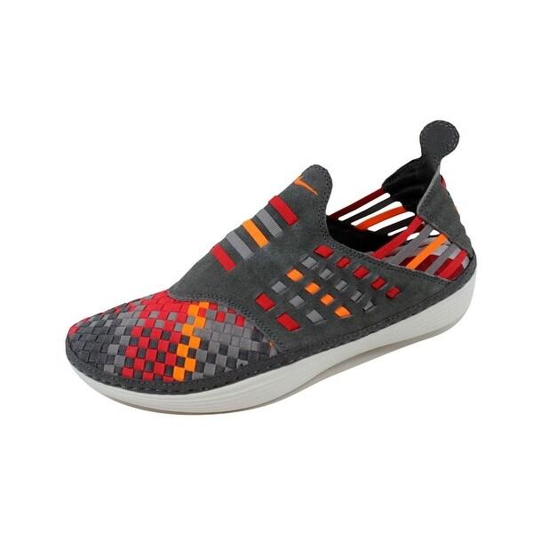 Nike Men's Solarsoft Rache Woven Premium Midnight Fog/Total Orange-Sport Grey 555349-080
