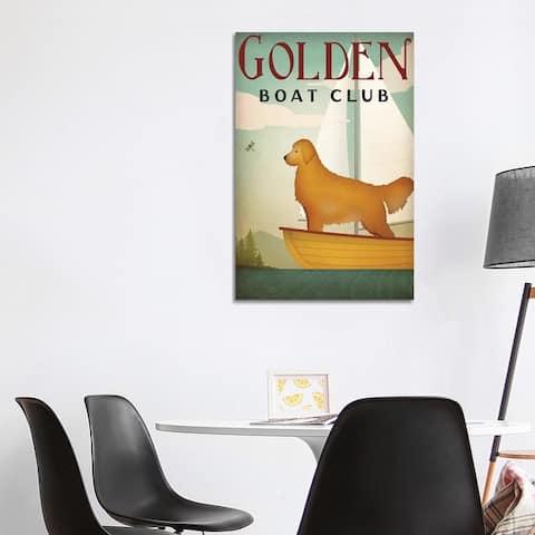 "iCanvas ""Golden Boat Club"" by Ryan Fowler Canvas Print"