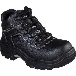 Skechers Women's Work Burgin Coralrow Comp Toe Boot Black