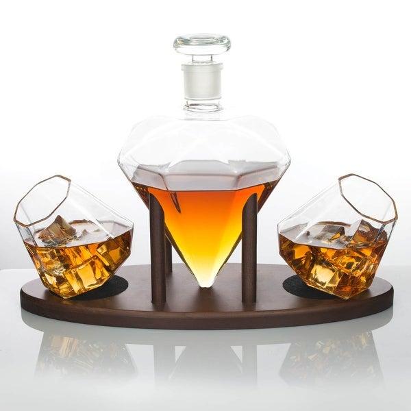 Ullo Wine Purifier Reviews >> Shop Atterstone Diamond Decanter Set with Custom Mahogany ...