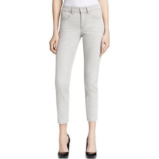 NYDJ Womens Ankle Jeans Gray Wash Comfort Waist