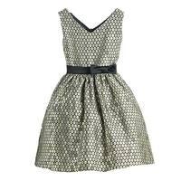 Sweet Kids Gold Polka Dot Jacquard Special Occasion Dress Girls 4-16