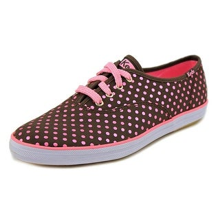 Keds Champion Cvo Dots Women Round Toe Canvas Brown Sneakers