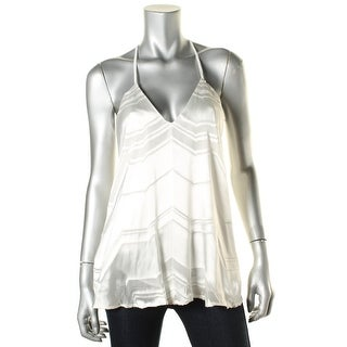 Ella Moss Womens Silk Blend Pattern Tank Top