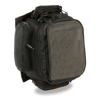 Extra Large Nylon Magnetic Tank Bag W Back Pack Straps 9X9X16 One Size