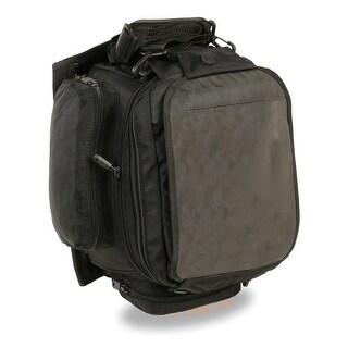 Extra Large Nylon Magnetic Tank Bag w/ Back Pack Straps (9X9X16)