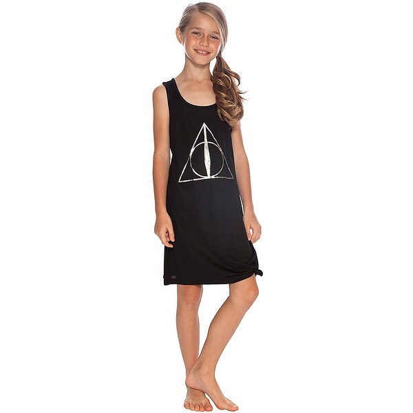 Harry Potter Girls' Deathly Hallows Racer Tie Night Gown Sleepshirt