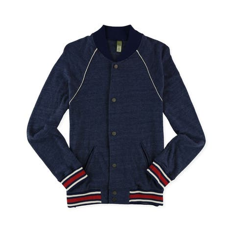 Alternative Mens Baseball Varsity Jacket, Blue, XX-Large