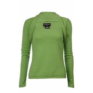 Sutton Studio Women's 100% Cashmere Shrug Neck Sweater