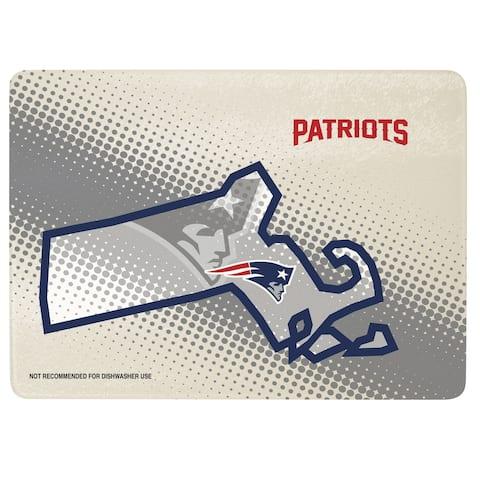 "New England Patriots 12"" x 8"" Glass Cutting Board"