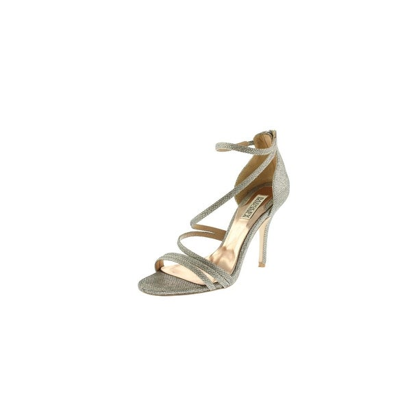 Badgley Mischka Womens Landmark Dress Sandals Metallic Heels