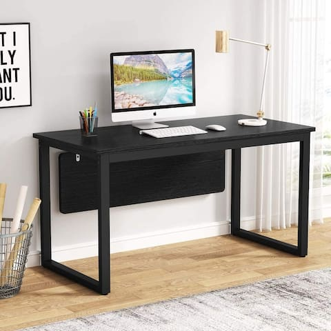 55 inch Simply Computer Desk, Modern Office Desk Computer Table Study Writing Desk