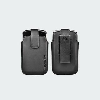 Verizon Black Leather Pouch for BlackBerry Curve 9370 (Black)