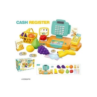 """12-Pieces Multi-Colored Cash Register with Sound Playset Children's Toy 16.5"""""""