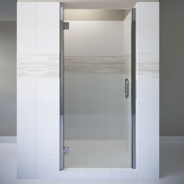 "Basco COPA00A3576XP Coppia 76"" High x 35-9/16"" Wide Hinged Frameless Shower Door with AutoGlideXP Clear Glass"
