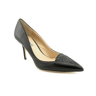 Charles David Liana Women Pointed Toe Leather Black Heels