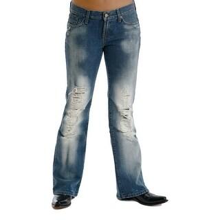 Stetson Western Denim Jeans Womens Destroyed
