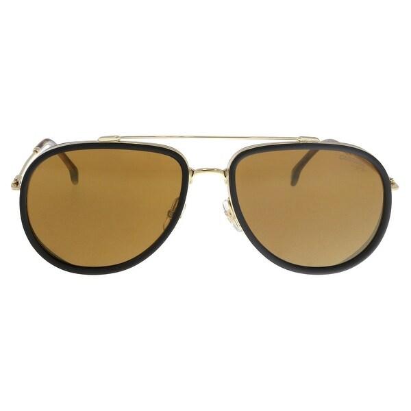 be1d9b1e2 Shop Carrera CARRERA 166/S J5g Black/ Gold Aviator Sunglasses - 59 ...