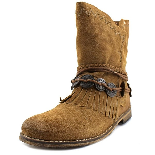 Musse & Cloud Anaeh Women Round Toe Suede Brown Mid Calf Boot
