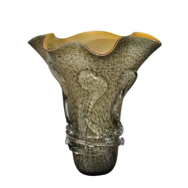 1575 Light Grey Briar Villa Decorative Hand Blown Glass Vase