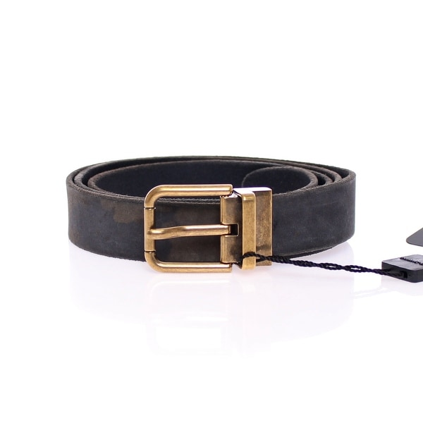 Dolce & Gabbana Black Leather Logo Belt