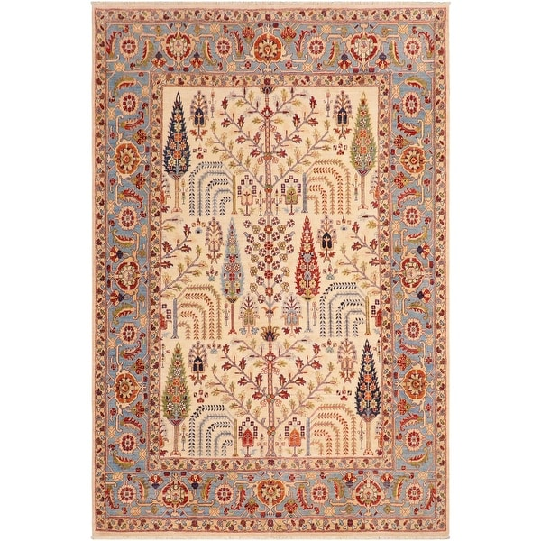 """Bohemien Ziegler Virgilio Hand Knotted Area Rug -7'11"""" x 9'11"""" - 7 ft. 11 in. X 9 ft. 11 in.. Opens flyout."""