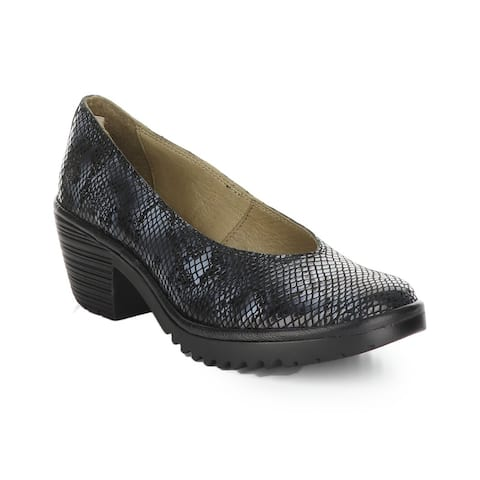 Fly London Walo Leather Wedge Pump