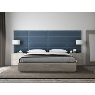"""Link to VANT Upholstered Headboards - Accent Wall Panels - Packs of 4 - PLUSH VELVET Peacock Blue - 39"""" Wide x 11.5"""" Height Similar Items in Bedroom Furniture"""