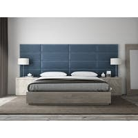 "VANT Upholstered Headboards - Accent Wall Panels - Packs Of 4 - PLUSH VELVET  Peacock Blue - 39"" Wide x 11.5"" Height"
