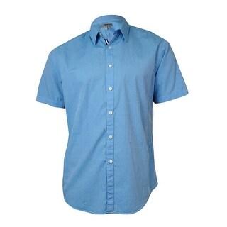 Murano Men's Roll-Tab Short Sleeves Cotton Shirt