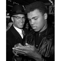 ''Muhammad Ali and Malcolm X, NYC, March 1, 1964'' by McMahan Photo Archive Celebrities Art Print (10 x 8 in.)