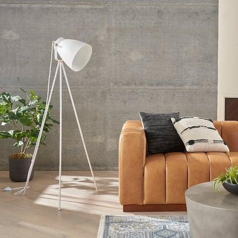 "Nourison 57"" Industrial Spotlight Tripod Floor Lamp"