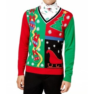 American Rag Red Mens Size Small S Turtleneck Christmas Sweater
