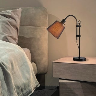 Link to CO-Z Modern Adjustable Arched Desk Lamp Reading Lamp with Black Fabric Shade Similar Items in Desk Lamps
