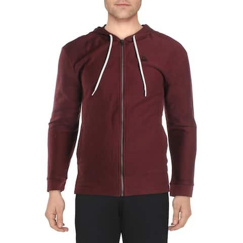 Reebok Mens Hoodie Sweatshirt Activewear - Maroon - S