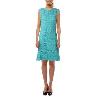 Lauren Ralph Lauren Womens Lace Knee-Length Cocktail Dress