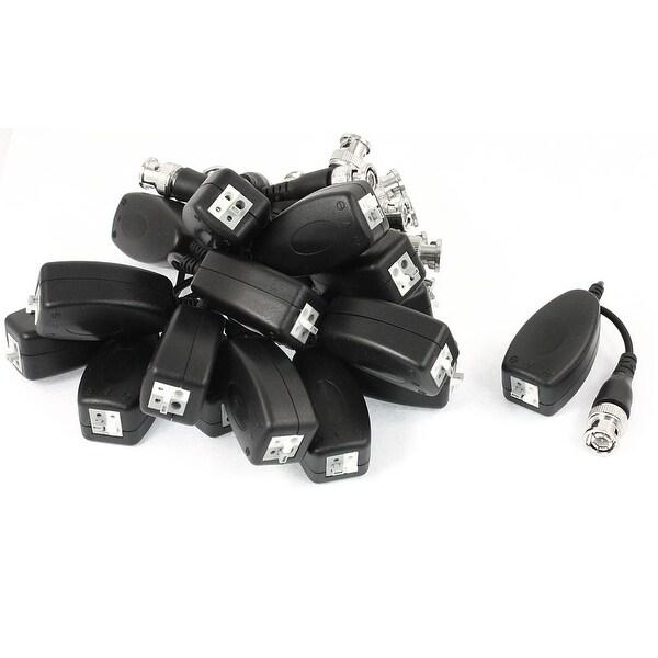 CCTV Camera BNC Male Plug Video Balun Cat5 UTP Passive Transceiver 8Pairs