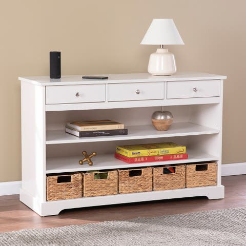 Copper Grove Maurie Transitional White Wood Credenza